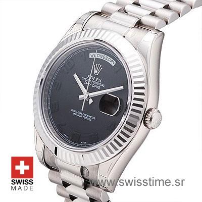 Rolex Day-Date II SS Black Arabic-1210