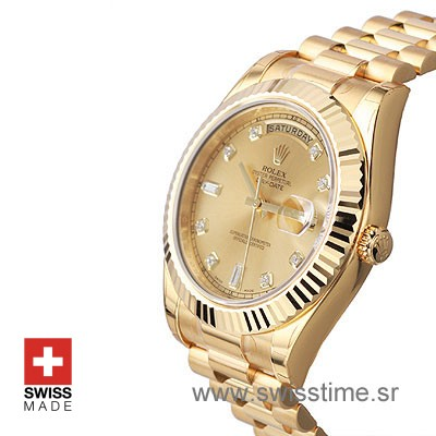 Rolex Day-Date II Gold Gold Diamonds-1145