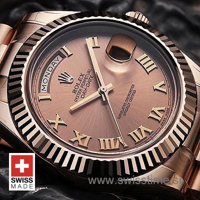 Rolex Day-Date II Gold Gold Roman-1153