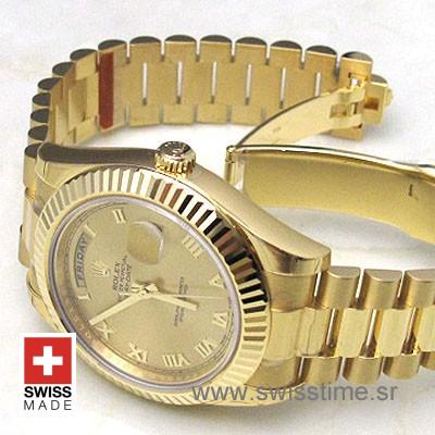 Rolex Day-Date II Gold Gold Roman-1152