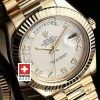 Rolex Day-Date II Gold White Arabic-1165