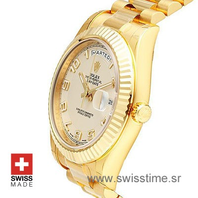 Rolex Day-Date II Gold White Arabic-1164