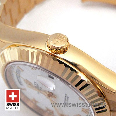 Rolex Day-Date II Gold White Roman-1169