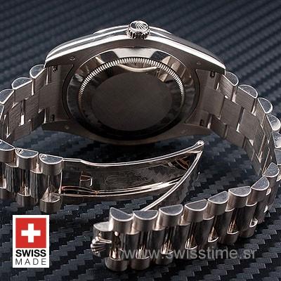 Rolex Day-Date II SS Black Diamonds-1221