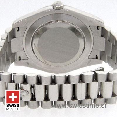 Rolex Day-Date II SS Silver Roman-1284