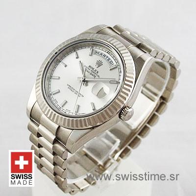Rolex Day-Date II SS Silver-1269