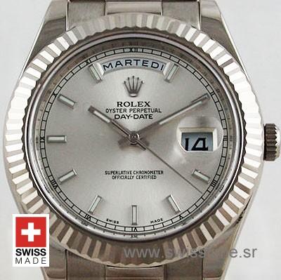 Rolex Day-Date II SS Silver-1270