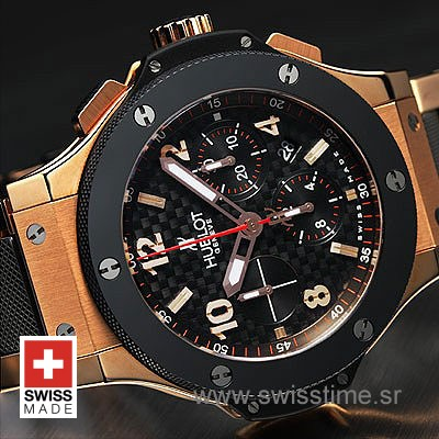 Hublot Big Bang Evolution Rose Gold Black-777