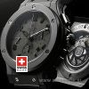 Hublot Big Bang All Black Rubber Strap   Swiss Replica Watch