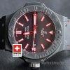 Hublot Big Bang Black Red Dial Leather Strap | Swisstime Watch