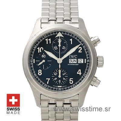 IWC Pilot Spitfire Chronograph Ardoise Dial | Swiss Time Watch