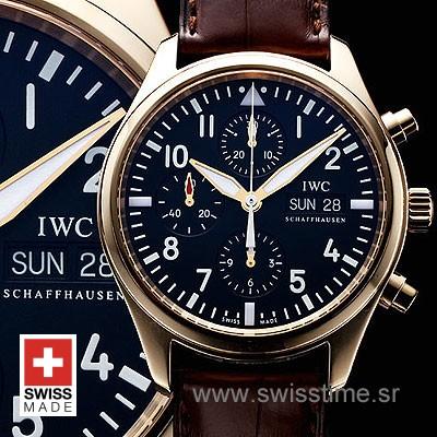IWC Pilot Chronograph Rose Gold Replica Watch | Swisstime