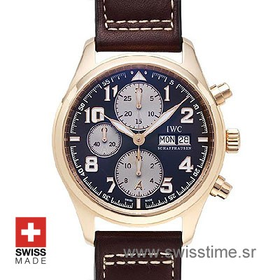 IWC Pilot Exupery Chrono Rose Gold