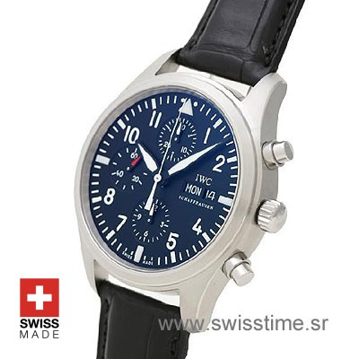 IWC Pilot Chrono SS Leather-520