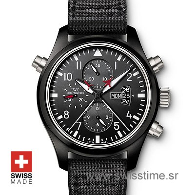 IWC Pilot Double Chrono Top Gun