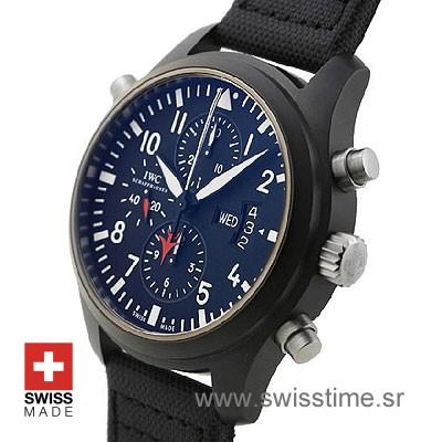 Buy IWC Pilot Double Chronograph top Gun Ceramic | Swisstime