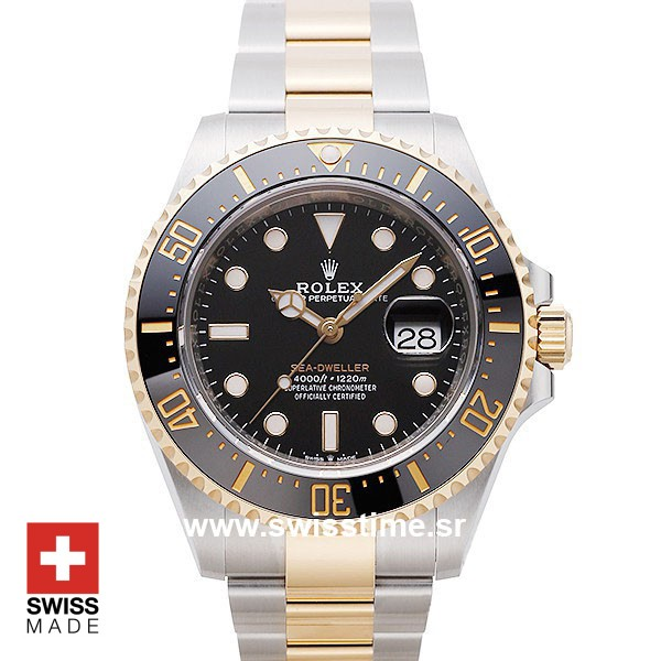Rolex Sea Dweller Two Tone | 904L Steel & Gold Replica Watch