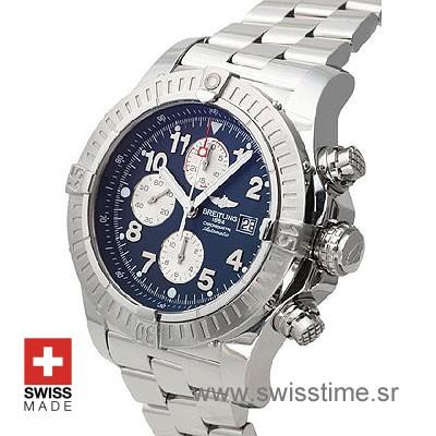 Breitling Super Avenger SS Blue Arabic-686