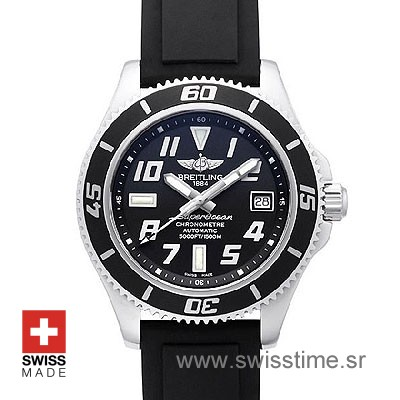 Breitling Superocean II Black Dail Rubber Strap | Swisstime