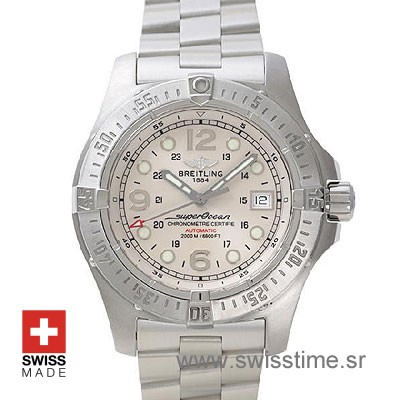 Breitling Superocean Steelfish White Dial Steel Bracelet Watch