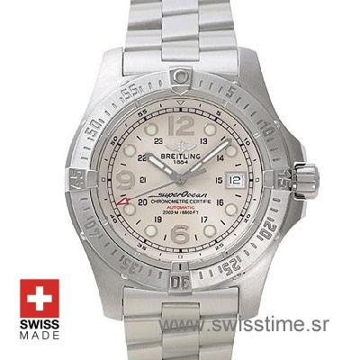 Breitling Superocean Steelfish White Dial Steel Bracelet Watch