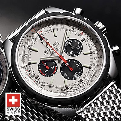 Breitling Navitimer Chrono Matic 49 Silver White Replica Watch