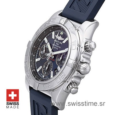 Breitling Chronomat 44 Blue Rubber Strap | Swiss Time Watch