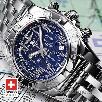 Breitling Chronomat B01 SS Blue Roman-634