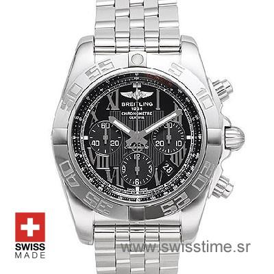 Breitling Chronomat B01 SS Black Roman