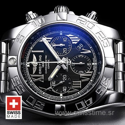 Breitling Chronomat B01 SS Black Roman-620