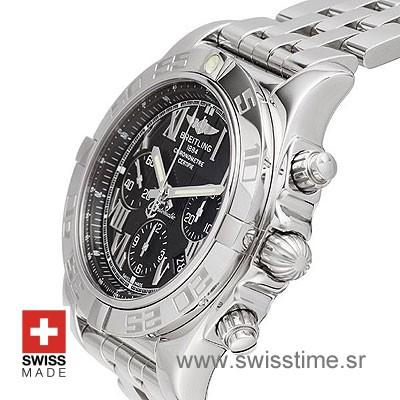 Breitling Chronomat B01 SS Black Roman-619