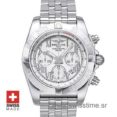 Breitling Chronomat B01 SS White Roman