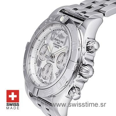 Breitling Chronomat B01 44 White Roman dial | Swisstime Watch