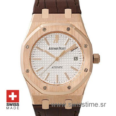 Audemars Piguet Royal Oak Jumbo Gold White-0