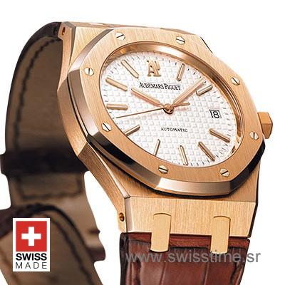 Audemars Piguet Royal Oak Jumbo   Rose Gold Replica Watch