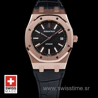 Audemars Piguet Royal Oak Jumbo Gold Black-2000