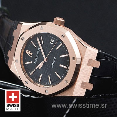 Audemars Piguet Royal Oak Jumbo Gold Black-2001
