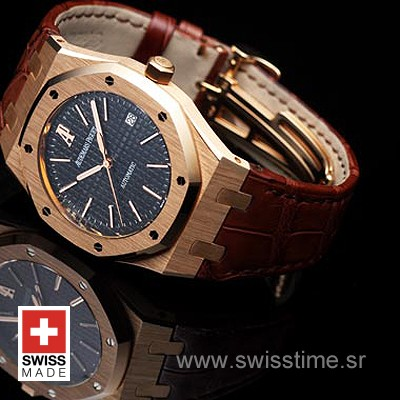 Audemars Piguet Royal Oak Jumbo Gold Black-2002