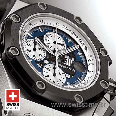 Audemars Piguet Royal Oak Offshore Rubens Barrichello Titanium Blue-1015