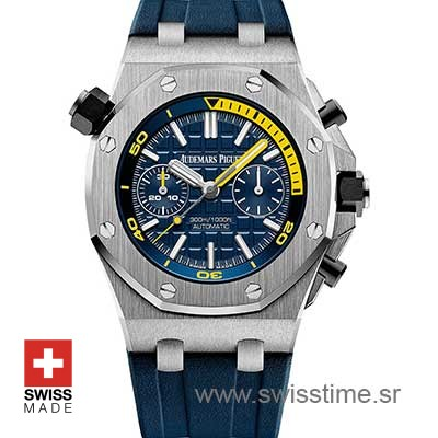 27e50d90b35 Audemars Piguet Royal Oak Offshore Diver Chronograph Blue 42mm | Swisstime