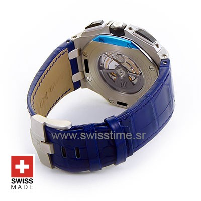 Audemars Piguet Royal Oak Offshore Novelty Chronograph 2017 Platinum Blue 44m Swiss Replica