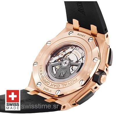 Audemars Piguet Royal Oak Offshore Novelty Chronograph 2017 Rose Gold Ceramic Black 44m Swiss Replica