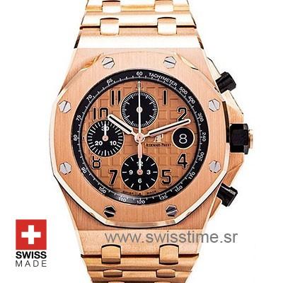 Audemars Piguet Royal Oak Offshore Rose Gold 2014 Pink Dial 42mm Swiss Replica