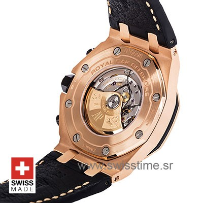 Audemars Piguet Royal Oak Offshore Rose Gold 2014 Pink Dial Leather 42mm Swiss Replica