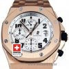 Audemars Piguet Royal Oak Offshore Rose Gold White Dial 42mm Swiss Replica