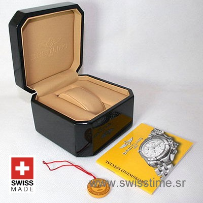 Breitling Bakelite Watch Box with all Papers & Seal Tags
