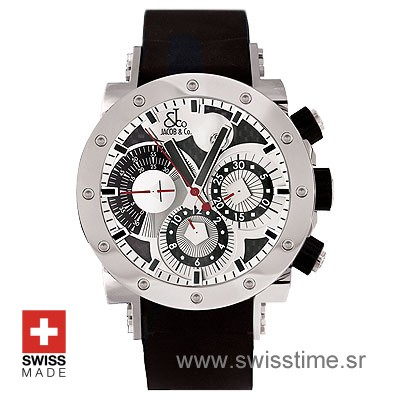 Jacob and Co Epic 2 White Chronograph | Swiss Replica Watch