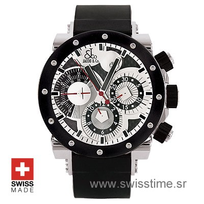 Jacob and Co Epic 2 | Rubber Strap Watch | Swiss Time Watch