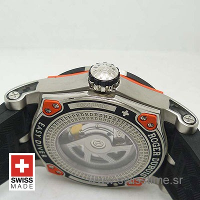 Roger Dubuis Easy Diver Black 46mm   Luxury Replica Watch