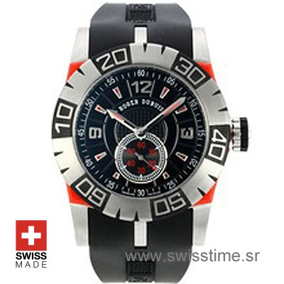 Roger Dubuis Easy Diver SS Black - Red-0
